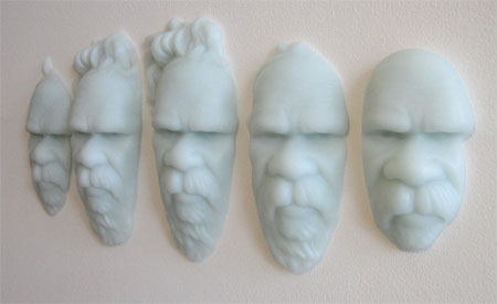 Megan Bottari, Post-Modern Tokenism II (2007), lost wax cast crystal