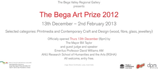 Bega Art Prize 2012 back