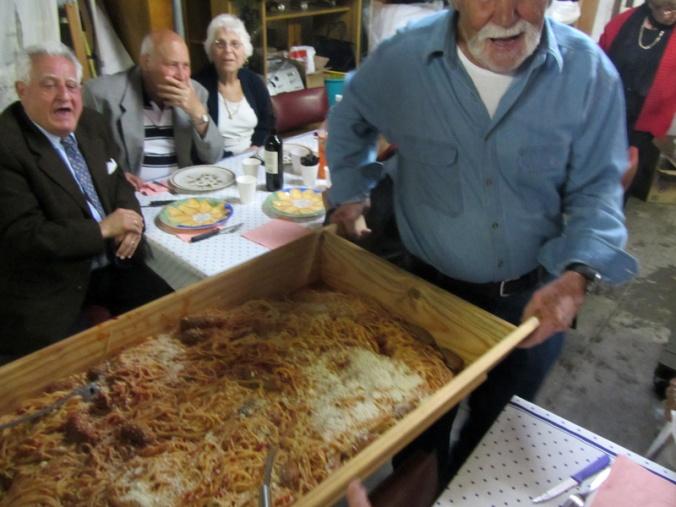 bringing in the pasta