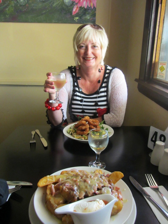 Last lunch at the Bank Hotel with Kerry