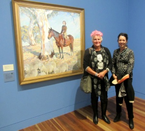 Megsie and Megan at the NPG