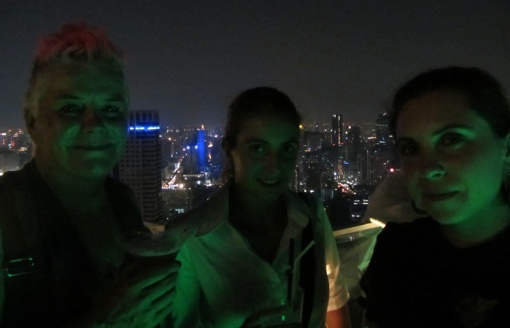 Megsie, Ging and Sammy Jo at the Skybar