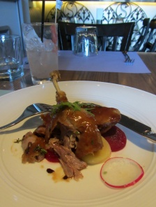 Duck confit at Hide and Seek