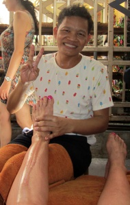 foot massage at Chatuchak