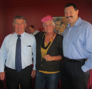 Megsie with two top blokes