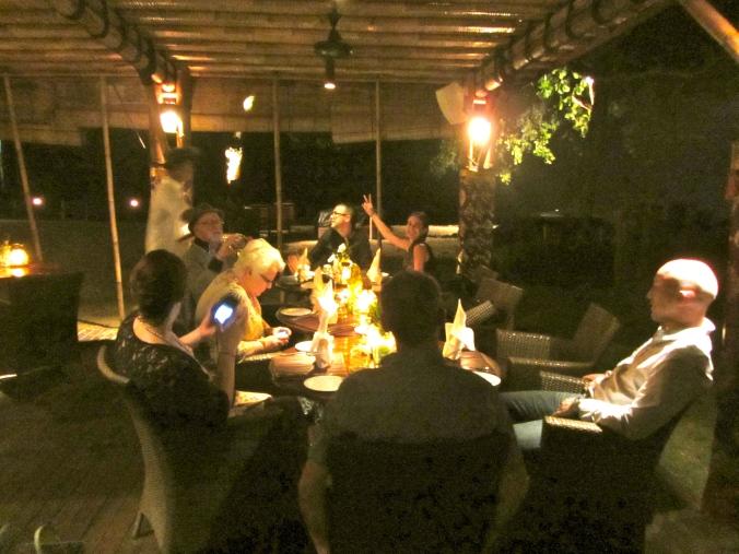 dinner at Jimbaran Puri