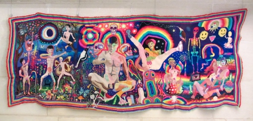 Paul Yore, Boys Gone Wild 2012, wool and synthetic fibre on canvas