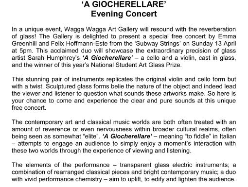 concert blurb