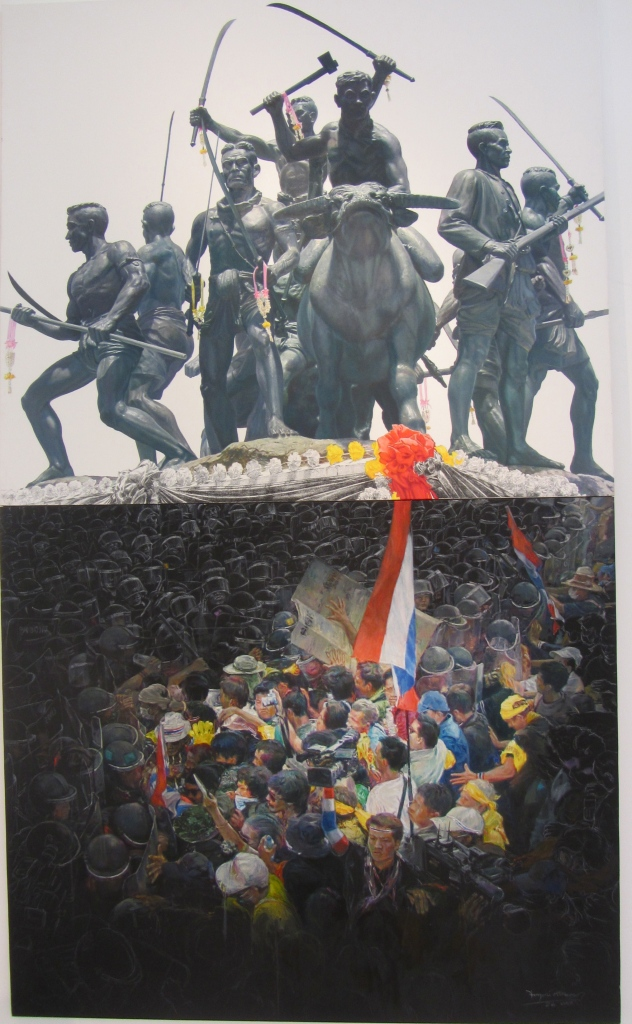 Jakkrit Srisongkram, Wake up, Thai people, oil, litho pencil, pencil