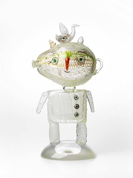 Tom Moore, Sasquatch, hot-joined, blown and solid glass