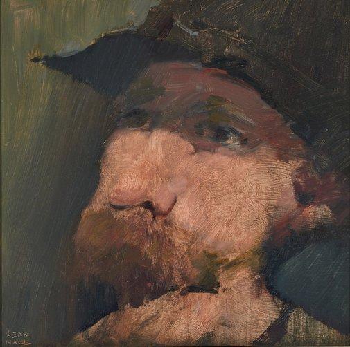 Leon Hall, Self-portrait