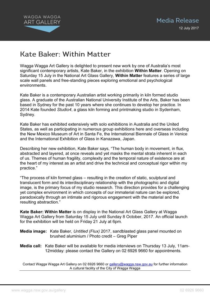 Media Release - Kate Baker - Within Matter-1