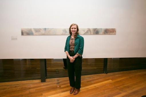 Rose-Mary Faulkner with her winning work