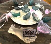 Megan Bottari, lost wax cast Australian lead crystal oyster shells